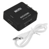 Композитный AV CVBS 3RCA к HDMI Video Converter Adapter 1080p Up скейлер Black 1m 39 3 hdmi male to 3rca 3 rca rgb adapter converter audio video av cable cord for hdtv