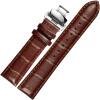 JEAYOU аксессуары для часов кожаный ремешок кожаные часы с двойной бабочкой пряжки универсальные часы с мужчиной 22GZP02