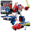 Hasbro (Hasbro) Titan Трансформаторы Voyager-класс игрушка войны три трансформатора Optimus Prime (красный и синий) C0276