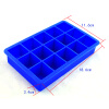 15-Cavity Silicone Drink Ice Cube Pudding Jelly Cake Chocolate Mold Mould Tray Set of 2 460001