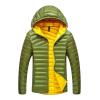 купить Антарктических теплых мужской моды хит цвет с капюшоном пуховик Y1618 Scholar Green 3XL дешево