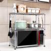 Фото Chaomu домашняя кухня микроволновая печь стеллажи стеллаж кухня полки кухонный стеллаж для хранения ZM3318F