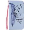 Blue Feather Design Кожа PU откидной крышки Кошелек Карты Держатель чехол для LG NEXUS 5X тигр дизайн кожа pu откидной крышки кошелек карты держатель чехол для lg nexus 5x