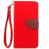 Красный Дизайн Кожа PU откидная крышка бумажника карты держатель чехол для Nokia Lumia 730 защитная пленка для мобильных телефонов 3pcs nokia lumia 730 735