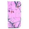 Розовый Дерево Дизайн Кожа PU откидная крышка бумажника карты держатель чехол для IPHONE 5 дерево дизайн кожа pu откидная крышка бумажника карты держатель чехол для iphone 7g