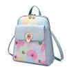 Сумка, чем наплечная сумка женская корейская версия простой моды леди напечатаны рюкзак дорожная сумка 921004 - мечта синий