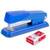 Эффективное (гастроном) 33191 Металлический степлер комплект (коробка штапель степлер +) ногтей Blue # 12 степлер мебельный gross 41001