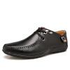 Мужская обувь должны Ч EGCHI Горох британской моды обувь 0525 отдых и бизнес желтовато-коричневый 41