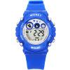 Дисней (DISNEY) ребенок наблюдает многофункциональный электронный часы водонепроницаемый светящийся синий для мальчиков и девочек серии детских спортивных часов PS018 электронный таймер часы для кухни белый