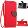 Красный Дизайн Кожа PU откидная крышка бумажника карты держатель чехол для Huawei Mate S
