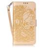 Golden Rose Дизайн Кожа PU откидная крышка бумажника карты держатель чехол для SAMSUNG J510