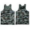 Мода Военный стиль Мужчины Жилет Camouflage Tank Top Tight Спорт Тощий