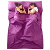 Xin Qin путешествия путешествия один спальный мешок кондиционер тепло от портативного отеля отель разделены грязный спальный мешок открытый дикий лагерь спальный мешок лайнер фиолетовый 160 * 210 см спальный мешок