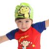 hugmii дети мальчики и девочки шапочки для плавания шапочки для плавания силиконовой водонепроницаемой шапочки для плавания ребенка зеленой мартышки шапочки с пенопластом для новорожд нных купить