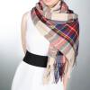 Одеяло Крупногабаритные Тартан шарф шотландки Проверено шали обруча Блоггеры Любимый две шали