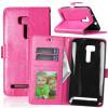 Розовая красная классическая флип-обложка с функцией подставки и слотом для кредитных карт для Asus ZenFone Zoom ZX551ML смартфон asus zenfone zoom zx551ml 128gb