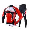 Mai Senlan MYSENLAN M02045 весной и летом с длинными рукавами джерси костюмов мужских брюки, куртки горы на своем собственном велосипедной одежду King - Красный XL 63 rose de mai