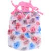 Клетка США Kojima весной и летом одежды домашних кошек и собак Цветочные ленты платье розовый S