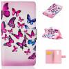 Розовый и голубой бабочки Дизайн Кожа PU откидная крышка бумажника карты держатель чехол для LG Magna H502 прекрасные сердце дизайн кожа pu откидная крышка бумажника карты держатель чехол для lg magna h502