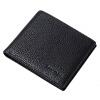TIANZUN мужской кошелек короткий пункт простой мужской кошелек мода модный горизонтальный кошелек деньги мягкий черный T16