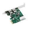 PCI-E PCI Express 2 порта USB 3.0 Card Adapter ж / USB 3.0 передней панели