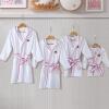 Kang Xin (canasin) пятизвездочные гостиничные халаты текстильный хлопок детский халат осенью и зимой толстый абсорбент махровые с капюшоном халат мужской ребенка на высоте 138 ~ 150см купить шелковый халат мужской спб