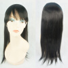 Flat Bangs with Hairband Straight Women Hairpiece 100% Human Hair Topper Long Natural Color wig female straight qi long straight hair bangs 79
