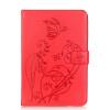 Красный цветок дизайн искусственная кожа флип кошелек карты держатель чехол для IPAD 234