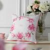 (Tevel) домашний текстиль хлопок вышитые подушки подушки для диванов подушки для автомобилей магнолия розовый 0,5 кг 45 * 45 см