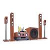 Двойное обещание SA6309 домашний кинотеатр 5.1 набор звуковой комбинации домашнего усилителя мощности сабвуфер KTV жилая комната ТВ-динамики 5.1 домашний кинотеатр с шестью частями (с 2 беспроводными микрофонами) домашний кабинет
