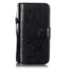 Черный цветочный дизайн Кожа PU откидная крышка бумажника карты держатель чехол для  IPHONE 5S черный цветочный дизайн кожа pu откидная крышка бумажника карты держатель чехол для iphone 6s