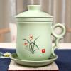 Jin Ксианг Ю Ru Yaolan керамическая чашка четыре чашки ручной росписи цветок отверстия кусок чашки чая с ситечком чая чашки офисом