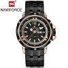 NAVIFORCE 100% нержавеющей стали Лучшие Мужчины Кварцевые спортивные часы Brand Военные часы кварцевые часы-водонепроницаемые нару