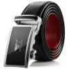 Семь восков ремни мужской кожаный ремень бизнес случайные автоматические пряжки пояса юный кожаный ремень 7A219076300 за черным красным