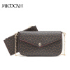 2 Pieces 2016 New Arrival Fashion Envelope Bag PU Leather Floral Print Composite Women Shoulder Bags Brand Women Gift cute fruit 2016 new fashion women wallet leather brand wallets women lady purse high capacity clutch bag for women gift