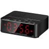 BAOX BX666 Будильник Bluetooth Mini Speaker Black Bed Музыка Музыка Часы FM-радио Автомобильный сабвуфер