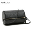 Free Shipping Barrel-Shaped Fashion Women Messenger Bags High Quality Solid Color PU Leather Mini New Brand Women Bag yuanyu 2018 new hot free shipping real python leather women clutch women hand caught bag women bag long snake women day clutches