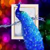 YGS-83 DIY Алмазная вышивка Алмазная мозаика Павлин Душа Круглый Алмазная живопись Крест-набросок Наборы богатых цветов Домашнее украшение