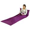 Xin Qin путешествия путешествия одноместный спальный мешок кондиционер теплый был портативный отель отель разделенный грязный спальный мешок открытый дикий лагерь спальный мешок лайнер фиолетовый 75 * 210 см спальный мешок
