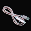 Nylon Braided 2 in 1 High Speed Sync Data Micro USB Charging Cable Line For iPhone8 7 6s Plus Android 580202 2m micro usb data sync charger cable fast quick charging cord high speed data transfer silicone wire line white