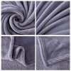 Soft Solid Warm Rug Throw on Sofa Bed Home Decor Bedroom Supplies home textile flannel blanket super warm soft fleece blandets double layer throw on sofa bed plane travel plaids solid bedspreads