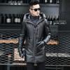 мужчины кожаную куртку, длинные рукава одежды осенью witer подлинного овчины мотоцикл пальто настоящая кожа более новый стиль с du щетка для одежды europe yun zhe