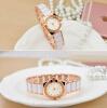 купить 18K Golden Plated Fashion Women Jewelry Watch Crystal Rhinestone Bracelet Date Analog Quartz Wrist Watch недорого