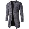 Длинные Досуг Кардиган Мужские пальто свитера мужские досуг хлопок длинные рукава рубашки