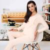 Aibo отцовства одежды беременных женщин кормящих одежды осенней одежды Qiu брюки костюм беременных женщин пижамы стороны открытой груди M305 розовый XXL брюки для беременных topshop 4 22