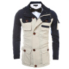 В Zipper Fight Цвет Multi-сумка Мужская куртка пальто