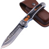 Вольф головы Колумбия columbia наружный инструмент складной нож милиция поставок самообороны волка оружия поле выживания инструмент инструмент кожаные ножны A3154