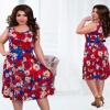в 2016 году летом vestido de Festa женщин ретро - платья цветочные печать винтаж платье плюс численность людей feminino vestidos м