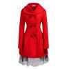 CT & F Зима Женщины Шерсть фраке Женщины Теплая Верхняя одежда Пальто Платья верхняя одежда
