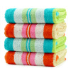 Bamboo Kam Towel Home Textiles Bamboo Fiber Dyed Striped Soft Hydrating Flower Color Towel 4 Pack Blue * 2 / Powder * 2 100g 2 100g new model tea food grain powder packaging machine